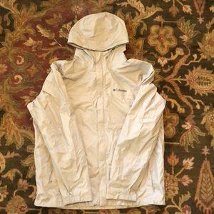 Grey Columbia Rain Jacket